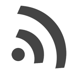 rss waves standard icon in gray