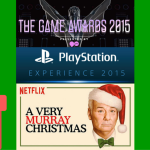 festive tga, psx and murray christmas logos in a collage